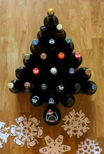 beer xmas tree
