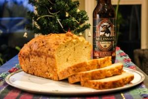 beer bread and beer bottle