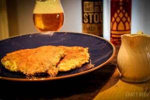 savoury ipa pancakes with stout syrup