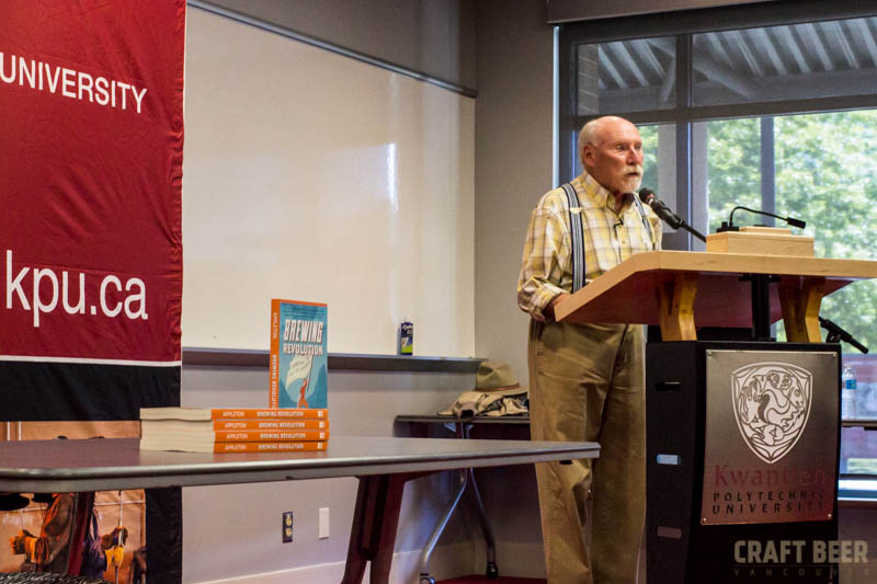 Frank Appleton at Podium with Books