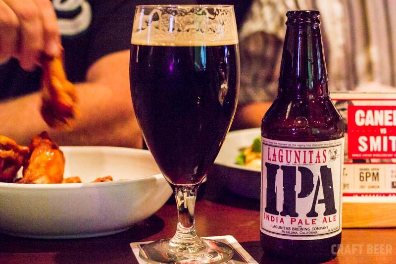 Lagunitas Stout and IPA