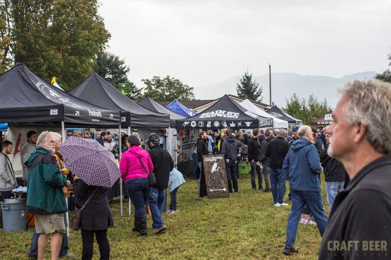 BC Hop Fest 2016 Tents and Crowd
