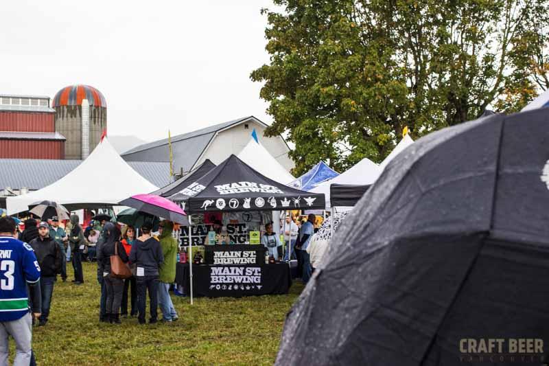 BC Hop Fest 2016 Main Street and Umbrella