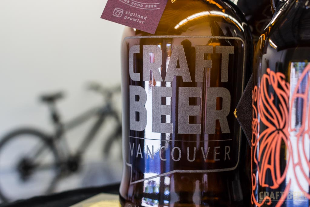 Sponsorship Craft Beer Vancouver Growler by Sigil & Growler