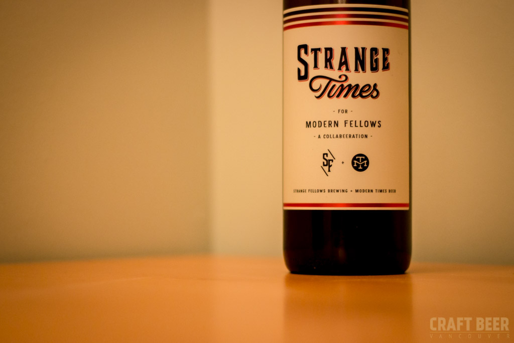 Try this beer strange times for modern fellows craft for Strange craft beer company