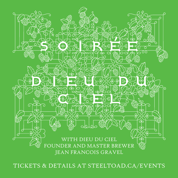 Events and Announcements Soiree Dieu du Ciel