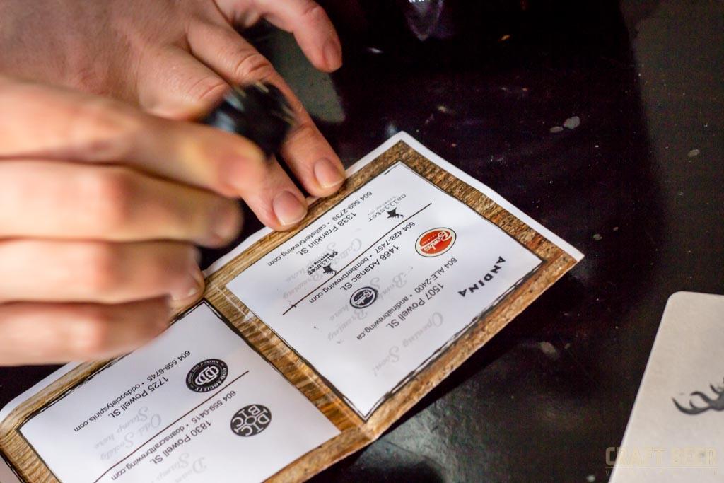 East Village Brewery and Distillery Passport Stamped