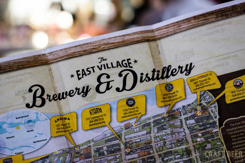 East Village Brewery and Distillery Passport Close-up