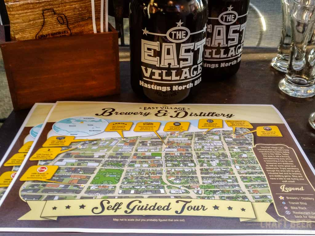 East Village Brewery and Distillery Passport Map