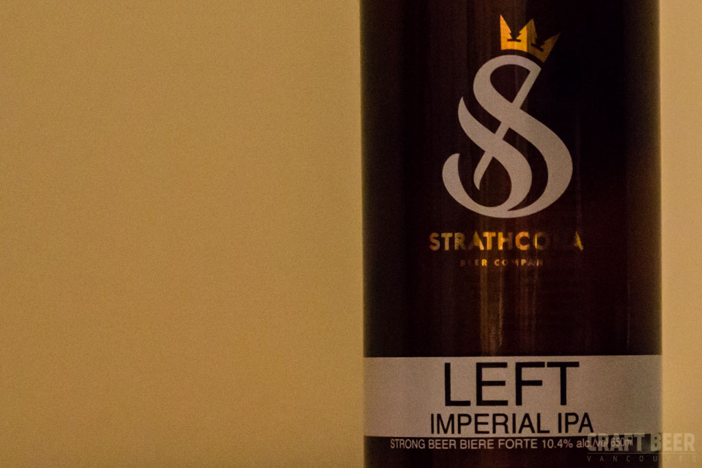Strathcona Left Imperial IPA Bottle