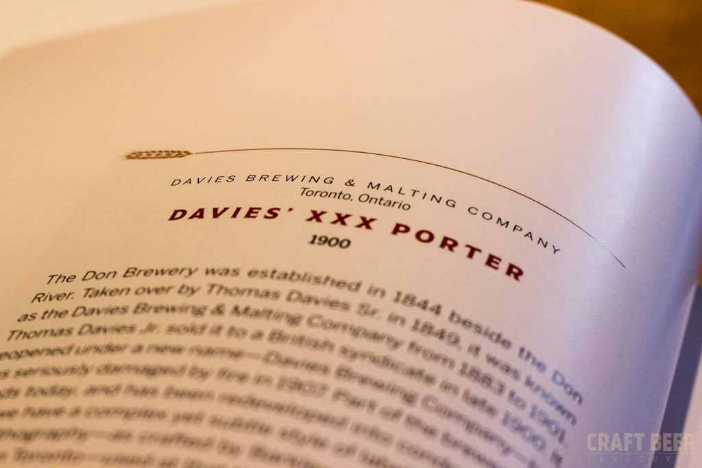 150 Years of Canadian Beer Labels Davies Porter Text