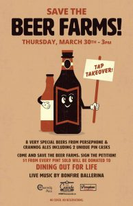 Save the Beer Farms Tap Takeover Poster