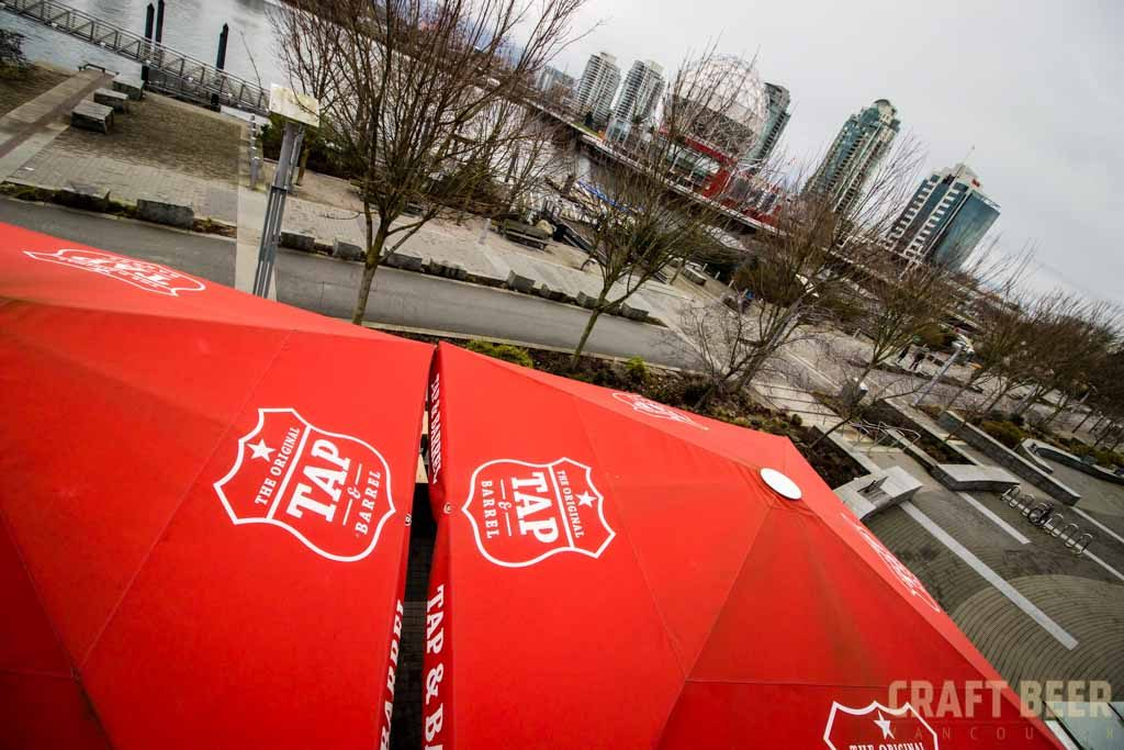 Tap and Barrel Anniversary Umbrellas