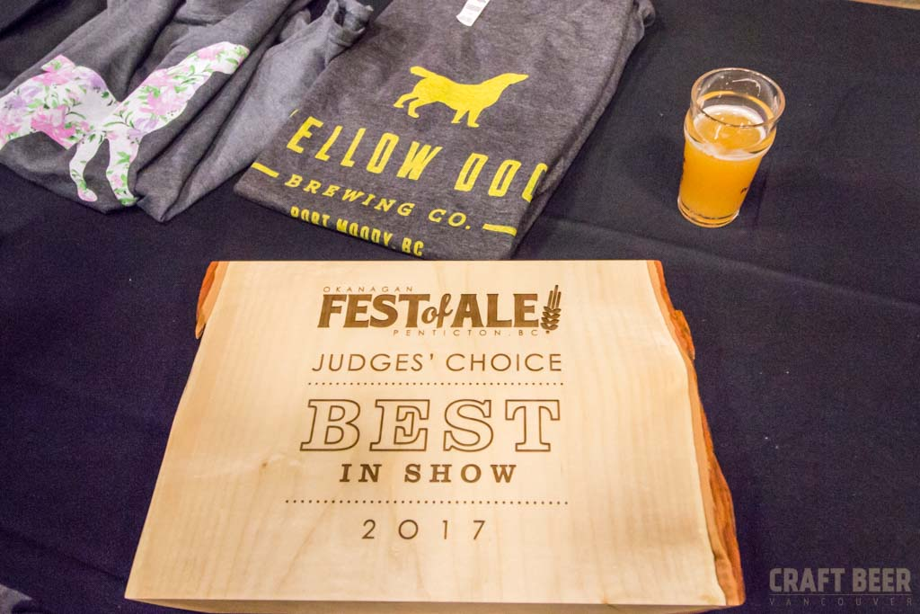 Okanagan Fest of Ale 2017 Yellow Dog Brewing Award