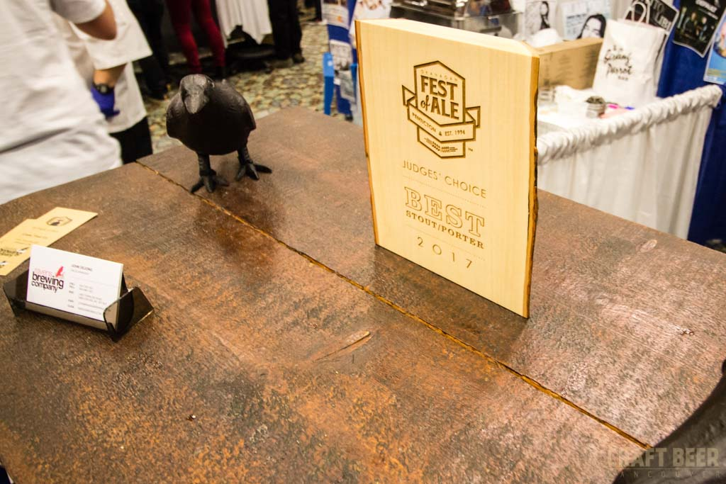 Okanagan Fest of Ale 2017 Ravens Brewing Award