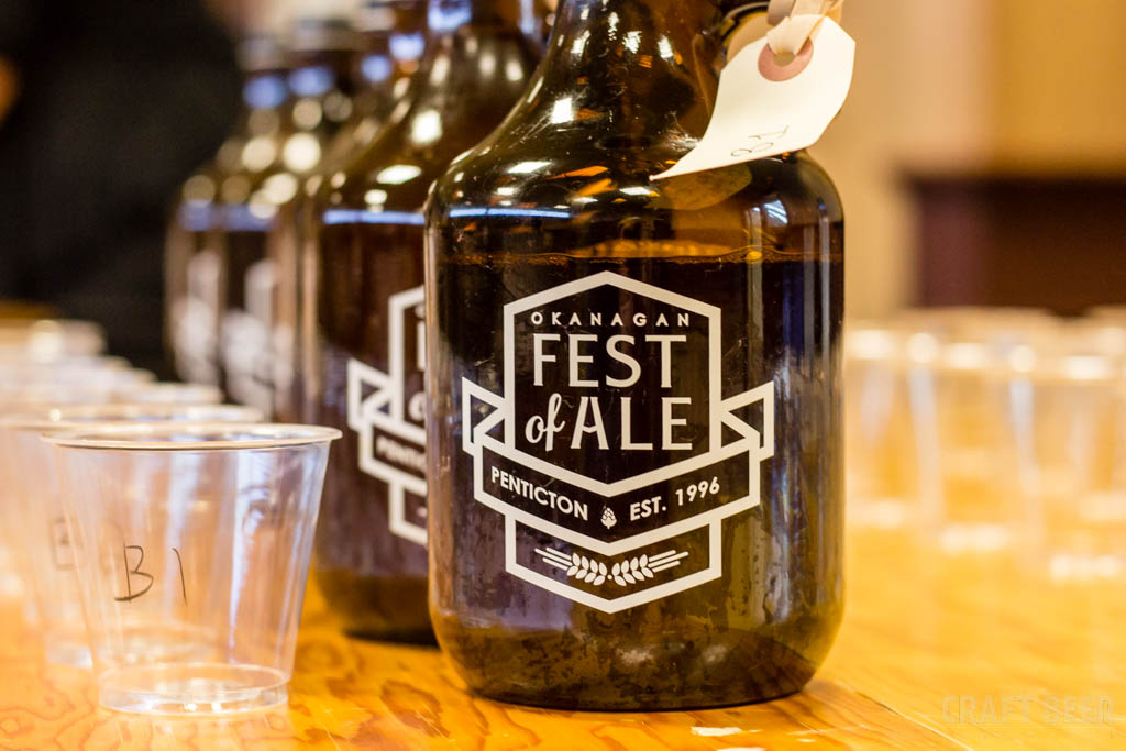 Okanagan Fest of Ale 2017 Judging Growlers