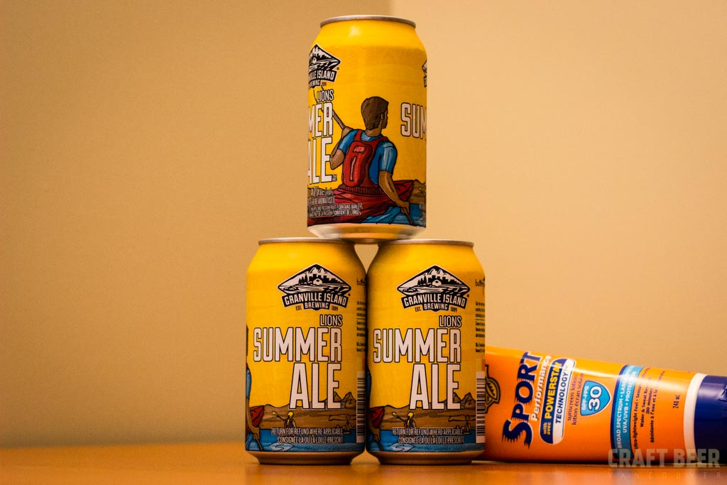 Granville Island Lions Summer Ale Cans