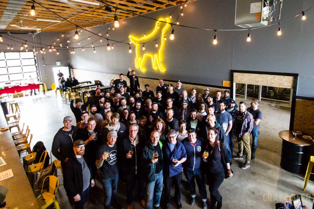 Vancouver Craft Beer Week 2017 Collaboration Brew Group Photo