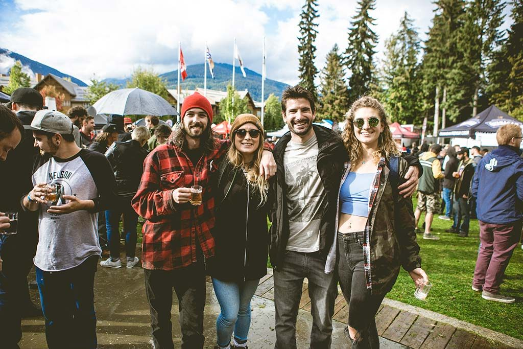 Whistler Village Beer Festival Attendees
