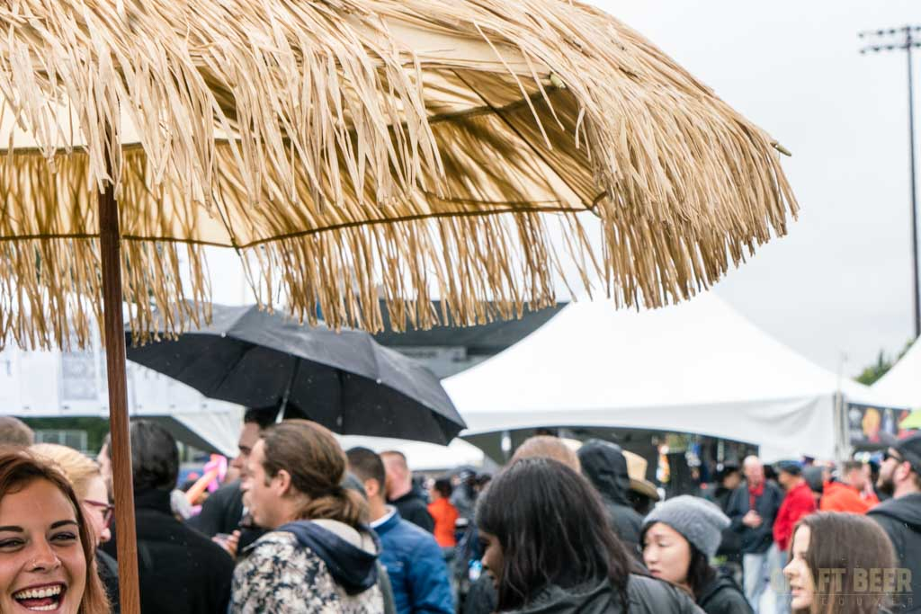 Great Canadian Beer Festival 2017 Straw Umbrella