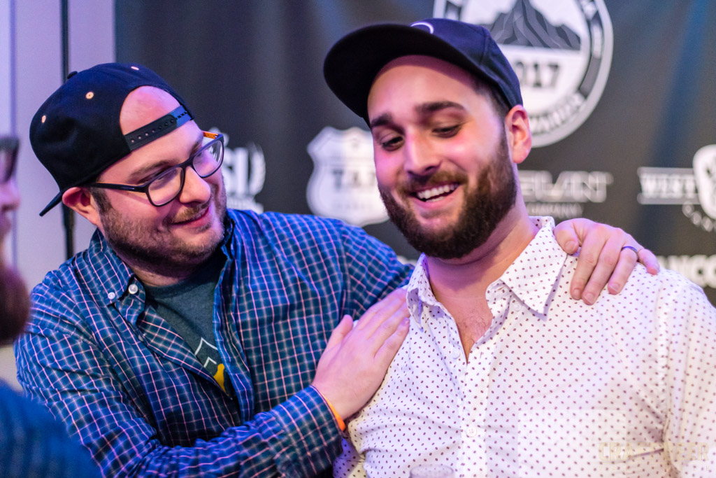 BC Beer Awards 2017 Congratulating Twin Sails