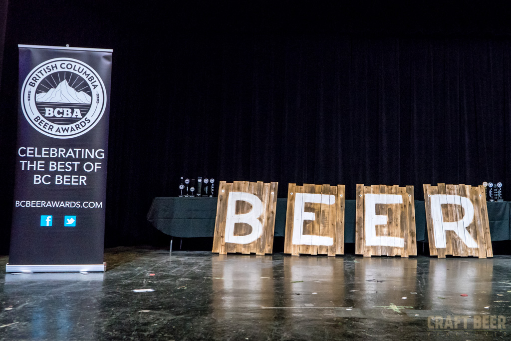 BC Beer Awards 2017 Stage and Beer Sign