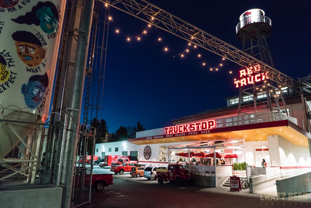 Red Truck Fall Beer Tasting 2017 Truck Stop Exterior