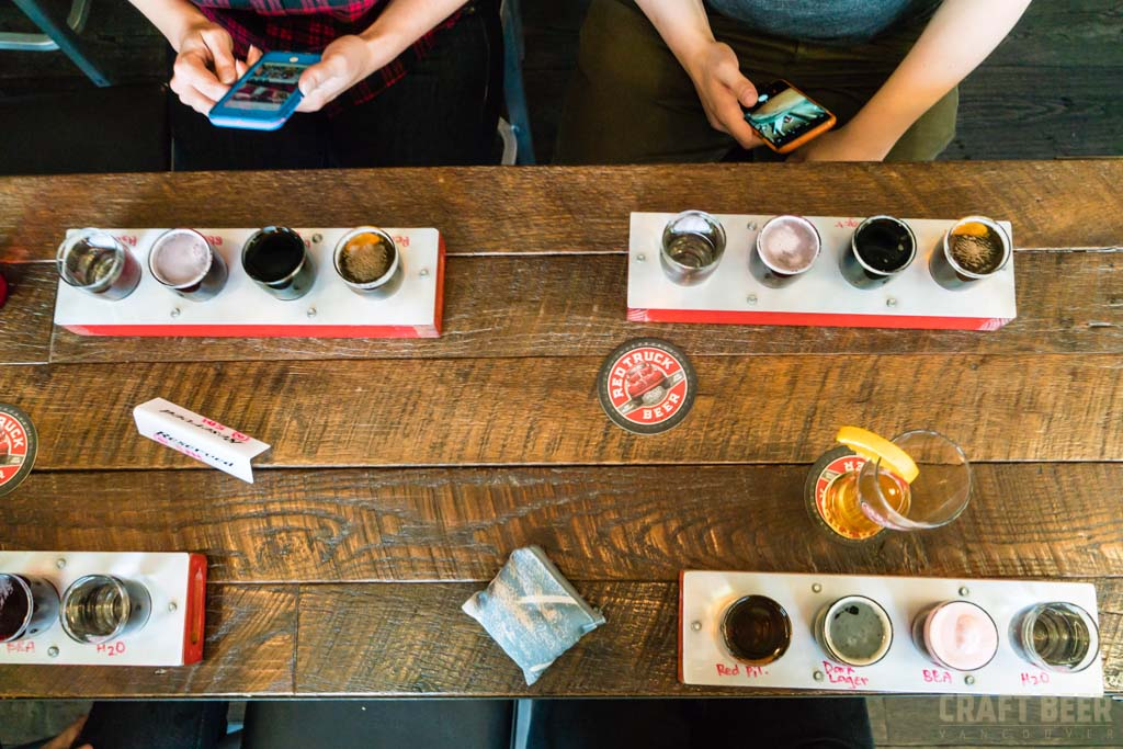 Red Truck Fall Beer Tasting 2017 Table from Above