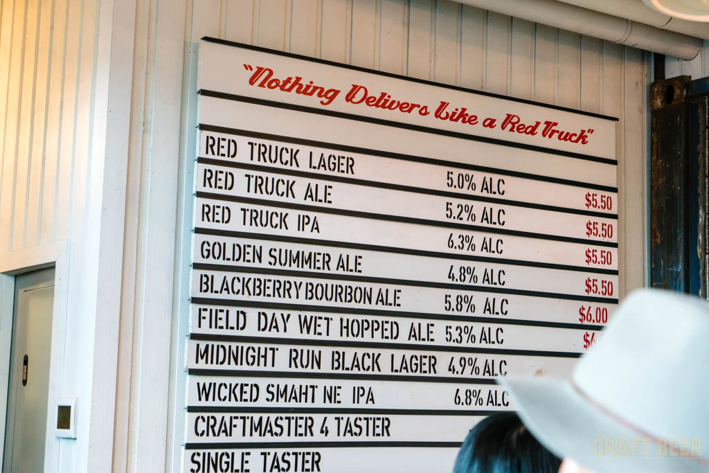 Red Truck Fall Beer Tasting 2017 Beer Menu