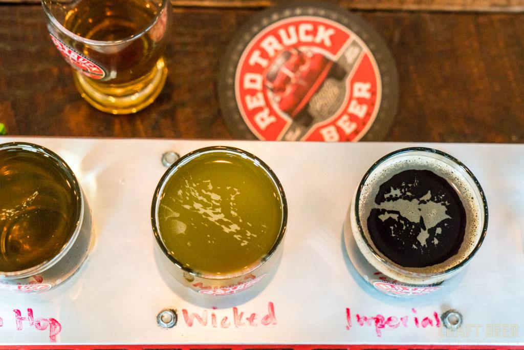 Red Truck Fall Beer Tasting 2017 Flight of Beer
