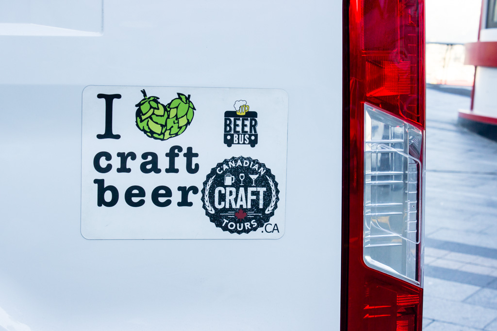 Canadian Craft Tours Bus Sticker